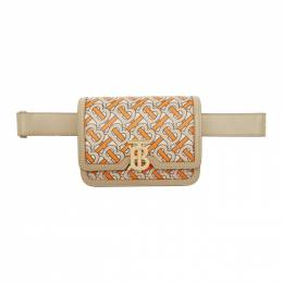 Burberry Orange and Beige Monogram Logo Bum Bag 192376F04500201GB