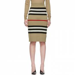 Burberry Beige Merino Kwando Icon Skirt 192376F09200503GB