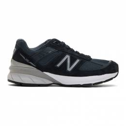 New Balance Navy US Made 990v5 Sneakers 191402M23701001GB