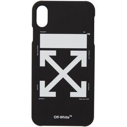 Off-White Black and White Arrow iPhone Max Case OMPA011E192940241001