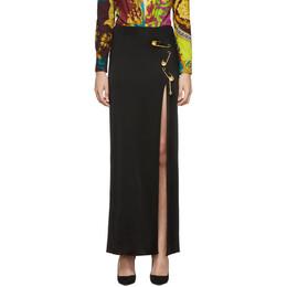 Versace Black Long Safety Pin Skirt 192404F09300103GB