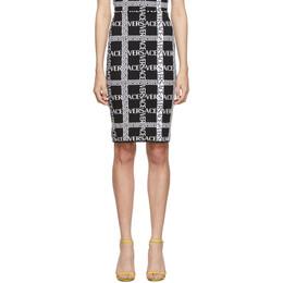 Versace Black Knit Logo Skirt 192404F09200302GB