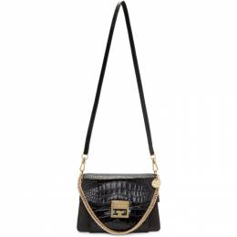 Givenchy Black Small Croc GV3 Bag 192278F04802601GB