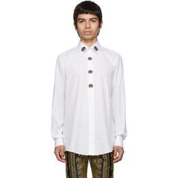 Dolce & Gabbana White Crown Shirt 192003M19200104GB