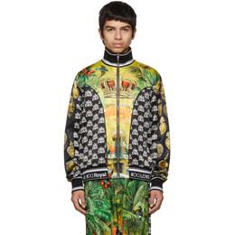 Dolce & Gabbana Multicolor Hawaiin Logo Zip-Up Shirt 192003M20201402GB