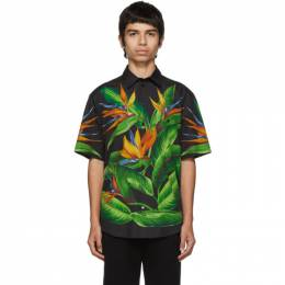 Dolce & Gabbana Black Bird Of Paradise Hawaiian Shirt 192003M19201504GB