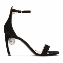 Nicholas Kirkwood Black Suede Maeva Sandals 192301F12500109GB