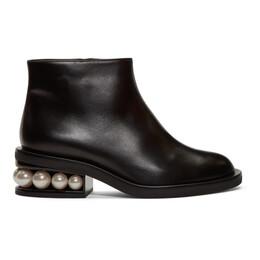 Nicholas Kirkwood Black Casati Pearl Ankle Boots 192301F11300107GB