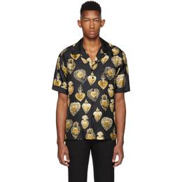 Dolce & Gabbana Black Silk Sacred Heart Shirt 192003M19200604GB