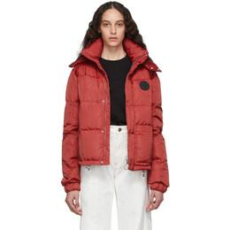 Off-White Red Puffer Jacket OMED015E19E060022000