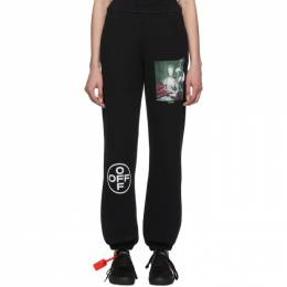 Off-White Black and Multicolor Mariana De Silva Slim Lounge Pants OMCH020E19E300051088