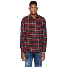 Dsquared2 Red Plaid M.B. Shirt S74DM0300 S52081