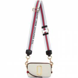 Marc Jacobs Red and White Small Snapshot Bag 192190F04800501GB