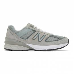 New Balance Grey 990v5 US Made Sneakers 192402M23704308GB