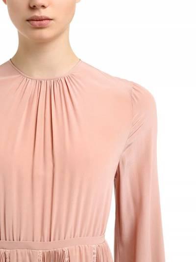 Платье Из Крепдешина С Открытой Спиной Rochas 67I1K5022-Mjcz0 - 2