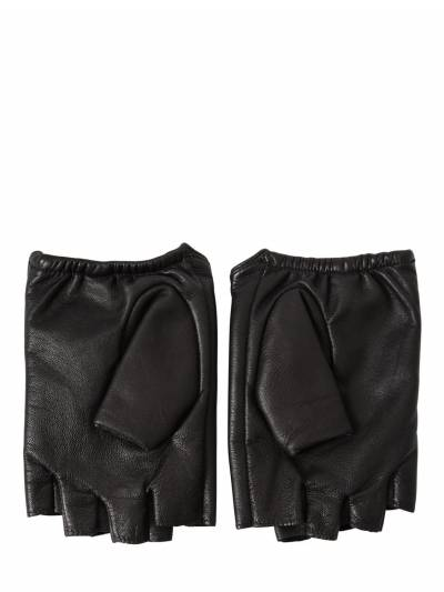 "Кожаные Митенки ""k/ikonik"" Karl Lagerfeld 67I0NS025-QkxBQ0s1 - 2"
