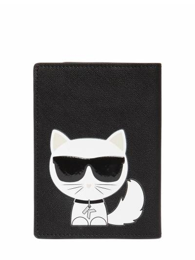 Чехол Для Паспорта Из Искусственной Кожи Karl Lagerfeld 67I0NS010-QkxBQ0s1 - 2