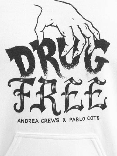 "Свитшот С Капюшоном ""pablo Cots Drug Free"" Andrea Crews 67I0NC020-V0hJVEU1 - 2"