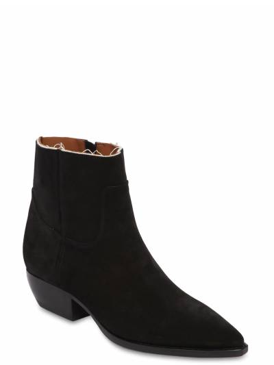"""Замшевые Ботинки """"theo"""" 30мм Saint Laurent 67I0C9005-MTAwMA2 - 2"""