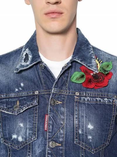Куртка Из Джинсового Деним Со Вставкой Dsquared2 67I04Y078-NDcw0 - 2