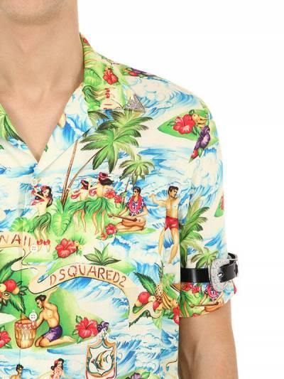 Рубашка В Стиле Боулинг Из Вискозы Dsquared2 67I04Y042-MDAxUw2 - 2