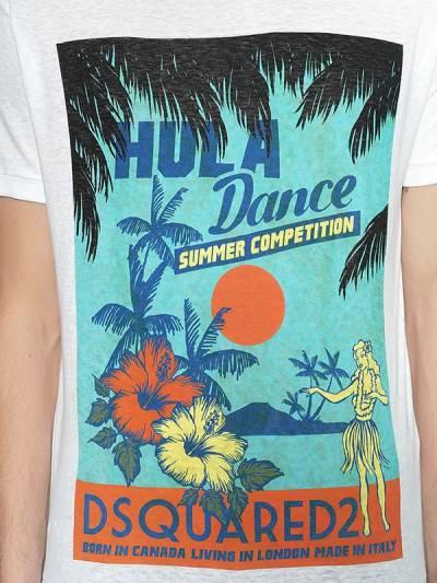 "Футболка ""hula Dance"" Из Хлопкового Джерси Dsquared2 67I04Y028-MTAw0 - 2"