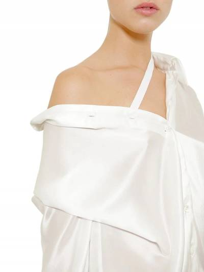 Ассиметричное Платье Из Атласа Ann Demeulemeester 67I019004-MDAy0 - 2