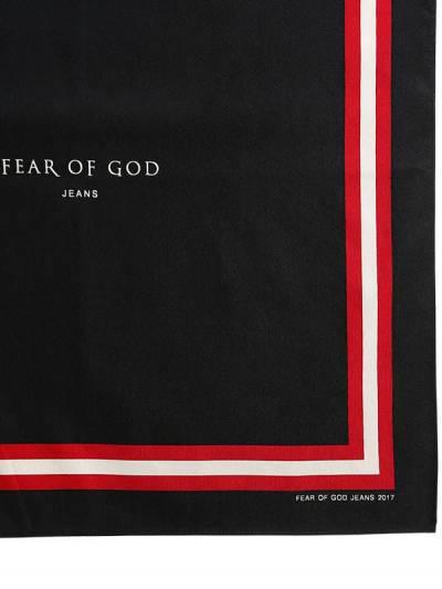 "Бандана ""Fear Of God"" Из Шёлка И Хлопка 66IWFI003-QkxBQ0s1 - 2"