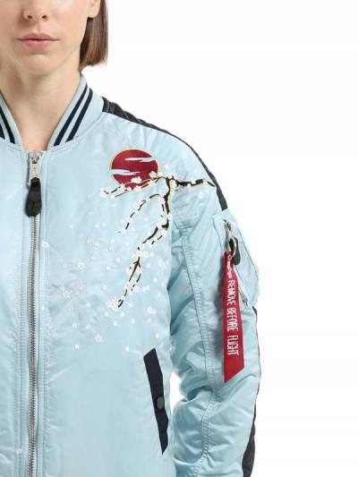 Куртка-бомбер Из Нейлона С Цветочной Вышивкой Alpha Industries 66IW3X015-Mzk40 - 2