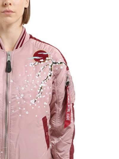 Куртка-бомбер Из Нейлона С Цветочной Вышивкой Alpha Industries 66IW3X014-Mzk30 - 2