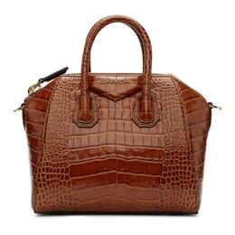 Givenchy Brown Croc Mini Antigona Bag 192278F04602001GB