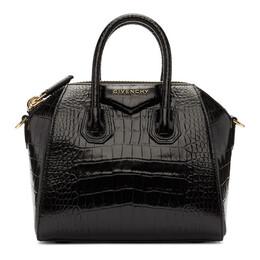 Givenchy Black Croc Mini Antigona Bag 192278F04601801GB