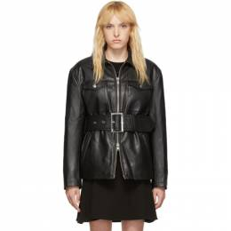 Opening Ceremony Black Faux-Leather Belted Jacket 192261F06300301GB