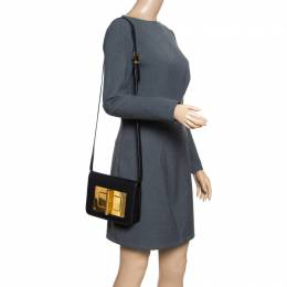 Tom Ford Black Leather Small Natalia Crossbody Bag 154480