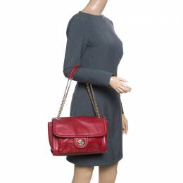 Coach Red leather Pocket Shoulder Bag