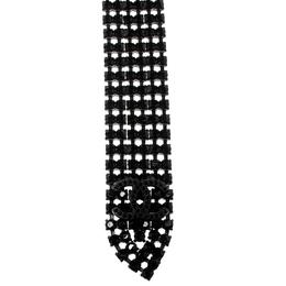 Chanel Black Crystal Embellished Statement Tie Necklace 151878