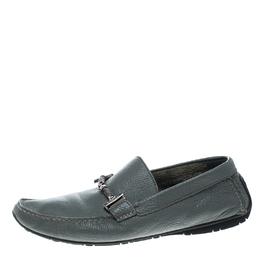 Baldinini Grey Leather Loafers Size 41.5 146514