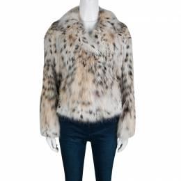 Gucci Beige Lynx Cat Fur Jacket S 139638