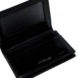 S.T. Dupont Black Glazed Leather Card Case
