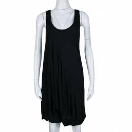 Marc By Marc Jacobs Black Chelsea Jersey Asymmetric Dress M 139795