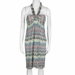 Missoni Multicolor Patterned Knit Halter Dress M 133601