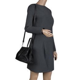Bottega Veneta Black Intrecciato Nappa Leather Medium Top Handle Bag 116876