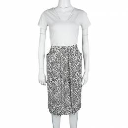 Marni Monochrome Printed Silk Skirt S 117846
