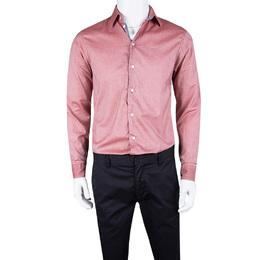 Armani Collezioni Pink Cotton Long Sleeve Button Front Shirt S