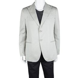 Giorgio Armani Grey Cotton Tailored Blazer XL 112495