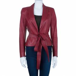 Dior Boutique Red Leather Jacket M 91041