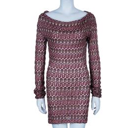 Missoni Multicolor Off-Shoulder Knit Dress M 93737