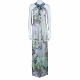 Matthew Williamson Multicolor Embellished Maxi Dress M 44830