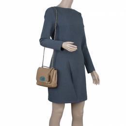Mulberry Tan Leather Small Lily Shoulder Bag 42358