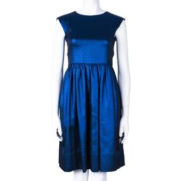 Marc By Marc Jacobs True Blue Metallic Dress S 43120